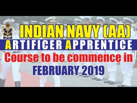 Indian Navy (AA) Artificer Apprentice 2018 Notification out