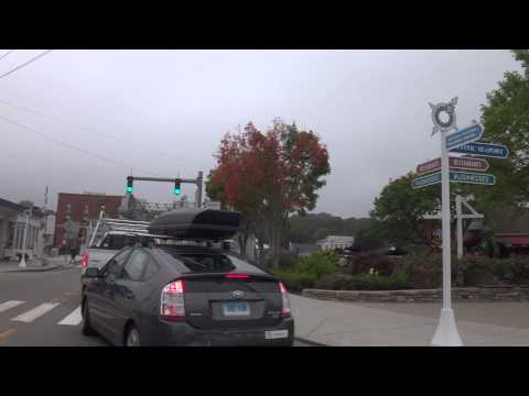 Drive Through: Downtown Mystic, CT - Main Street