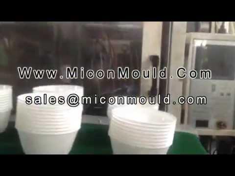 thin wall bowl mold, food container mold, 1 cavity thin wall mold