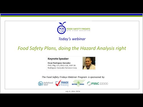 Food Safety Plans, doing the Hazard Analysis right