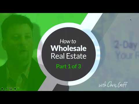 How to Get Started Investing in Real Estate without Money or Credit with Wholesaling Part 1 of 3