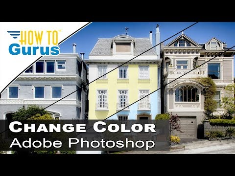 Photoshop Architecture :  Change House Color to Match Swatch : CC 2018 CS6 CS5 Tutorial