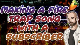 Making a fire trap song with a subscriber | FL Studio Dark Melodic Trap Tutorial