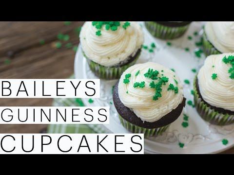 Guinness Cupcakes w/ Bailey's Buttercream | VEGAN Cupcake Recipe | St Patricks Day | Edgy Veg