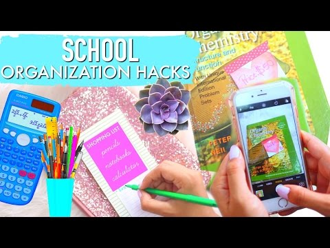 BEST ORGANIZATION HACKS!! | How to Stay Organized At The End Of School Semester! | Paris & Roxy