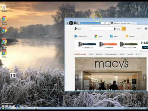 How to Create Internet Shortcut  On Your Desktop The Easy Way