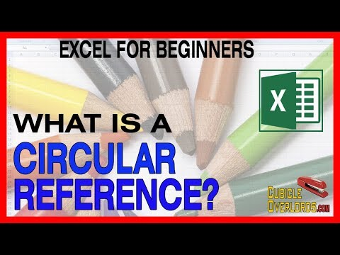 What is a circular reference in Excel?