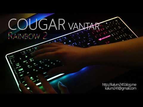 COUGAR GAMING VANTAR RGB LED EFFECT Scissor Switch KEYBOARD 쿠거 반타 팬타그래프 RGB 키보드