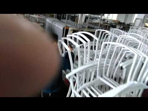 How aluminum textilene outdoor garden chair is made. factory direct supplier/manufacturer in China