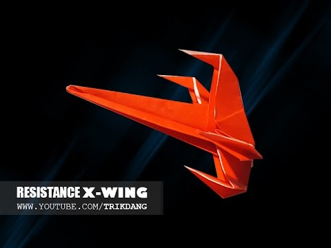 Best Paper Planes: How to make a paper airplane model | Resistance X-wing