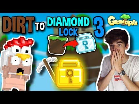 MY FIRST WORLD LOCK!! | Dirt To Diamond Lock #3 | Growtopia