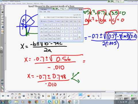 Algebra 1 Chapter 9 Section 6 The Quadratic Formula and the Discriminant