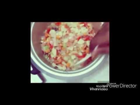 vegetable biriyani in electronic rice cooker