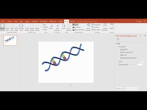 Draw a 3D DNA double helix structure quickly using only PowerPoint-part2