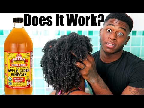 Husband Washes My Natural Hair   Apple Cider Vinegar Rinse   Does It Work?