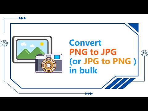 How to convert PNG to JPG (or JPG to PNG ) in bulk?