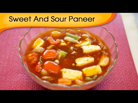 Sweet And Sour Paneer - Indian Cottage Cheese Gravy Recipe By Annuradha Toshniwal