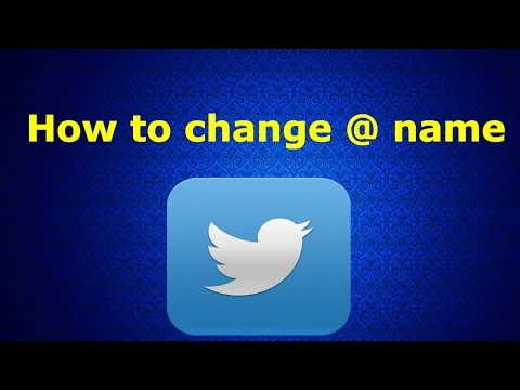 How to change Your @ name on twitter 2018