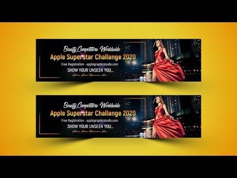 970x250 Adwords Display Web Banner Design - Photoshop Tutorial