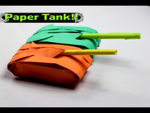 How to Make a Paper Tank - Easy Origami Tank Tutorial - DIY Crafts