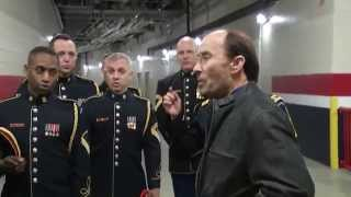 Army Chorus and Lee Greenwood sing a capella God Bless the USA impromptu at the Winter Classic
