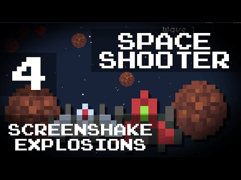 [Game Maker Tutorial] Easy Space Shooter - 4: Screenshake and Exploding Death Animations