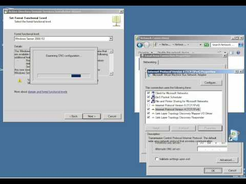 DC1 is a Domain Controller for the new FQDN: e2k10.com lab setup in home