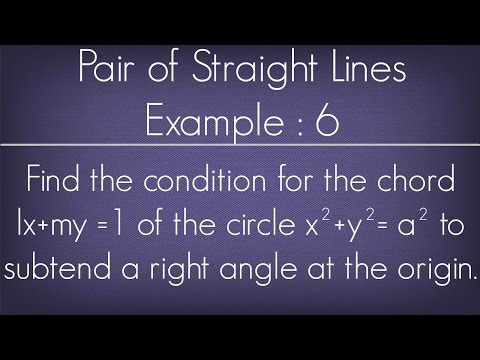 Pair Of Straight Lines Example - 6 l Maths Geometry
