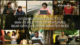 People respond to the promo of #ManvsWild with Bear Grylls and PM Modi   Discovery India