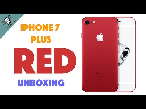 Apple iPhone 7 Plus Red unboxing - Product Red