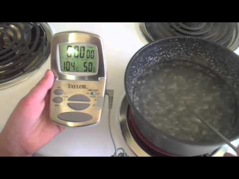 Boiling water and salt solution