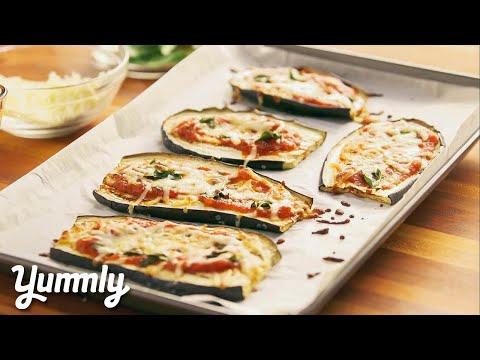 Low Carb Eggplant Pizza Melts