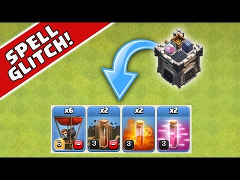Clash of Clans - SPELL GLITCH - Double Spells in Clan Castle!