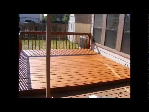 How to sand, stain and seal a 12X12 pine deck using a belt sander and some simple tools.