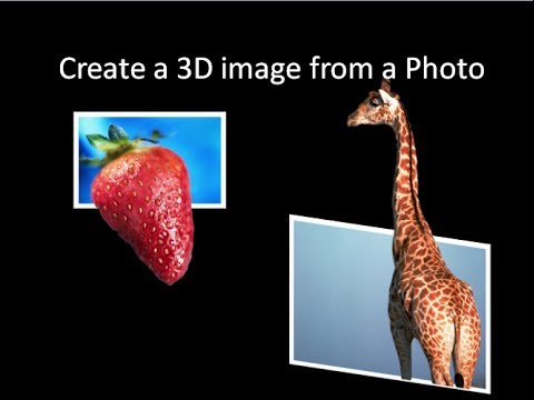 Create a 3D Pop Out or Floating Image