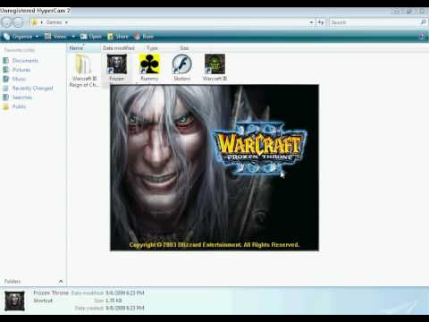 Warcraft III problem on Vista home Premium