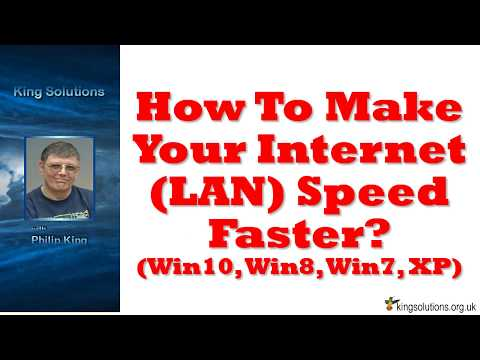 How To Make Your Internet LAN Speed Faster Win10 8 7 XP