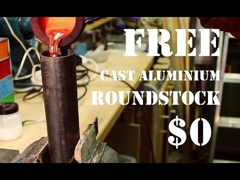 Casting Aluminium Roundstock From Free Scrap