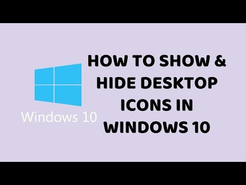 How to Show & Hide Desktop Icons in Windows 10   Easy Tutorials In Hindi