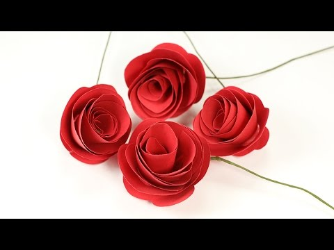 Easy Paper Rose Flower Craft: Step by Step DIY Rose Making with Paper