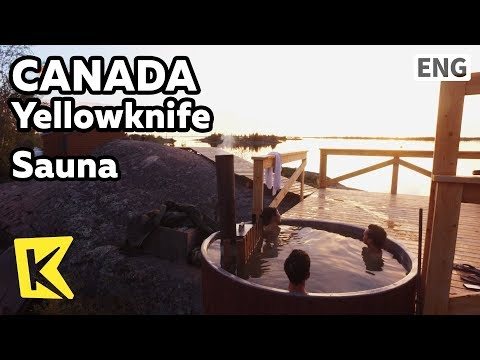 【K】Canada Travel-Yellowknife[캐나다 여행-옐로나이프]야외 사우나/Great slave lake/Sauna