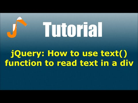 jQuery: How to use text() function to read text in a div
