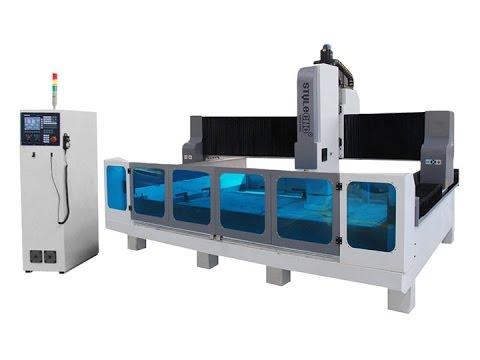 CNC stone cutting and polishing machine for quartz, granite and marble