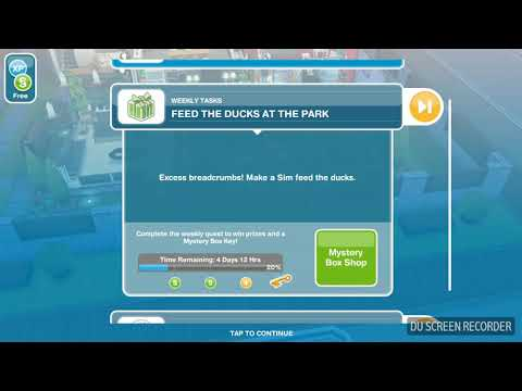 The Sims Freeplay - Feed the Ducks at the Park -  Weekly Task