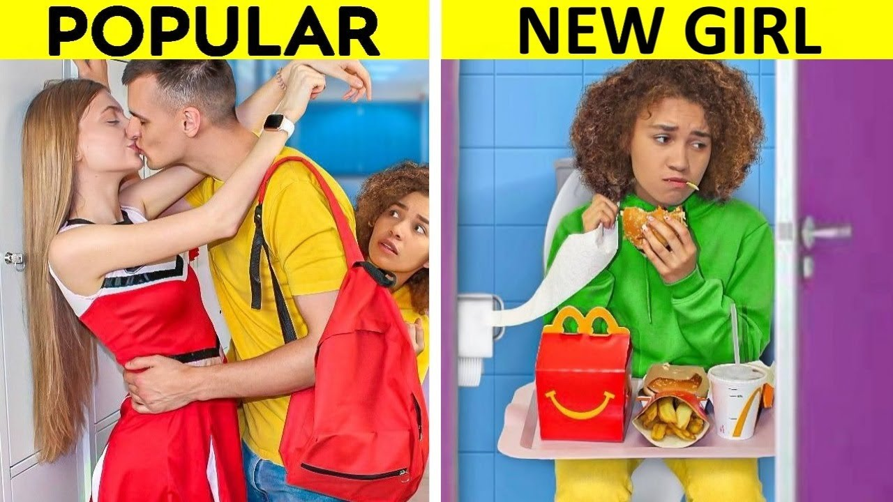 New Student vs Popular Student at College! Funny College Situations & DIY Ideas by Mr Degree