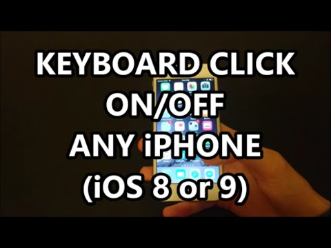 iPhone 6S Keyboard Typing Sound Effect (Click) Turn Off or On Temporarily or Permanetly iOS 9