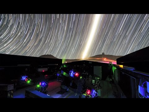 Time-lapse of Moon and Stars at New Exoplanet Telescope | Video