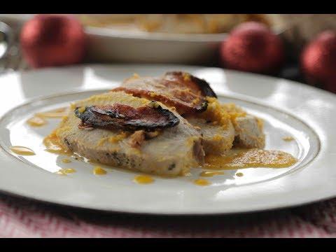 Pork loin with bacon