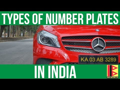 Types of Number Plates in India | Number Plate System in India