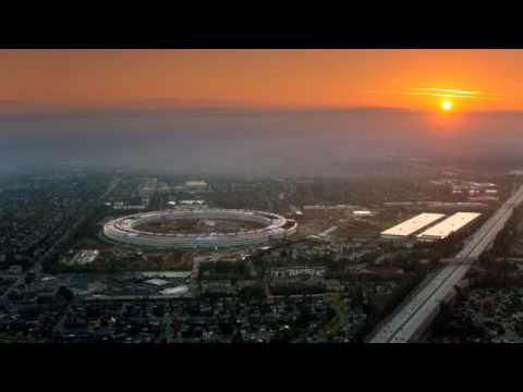 Apple park mid april 2017 the finishing touch drone in 4k
